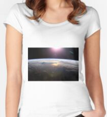 sci fi  Women's Fitted Scoop T-Shirt