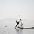The fisher at Inle Lake by Clara Go (missatgerebut)