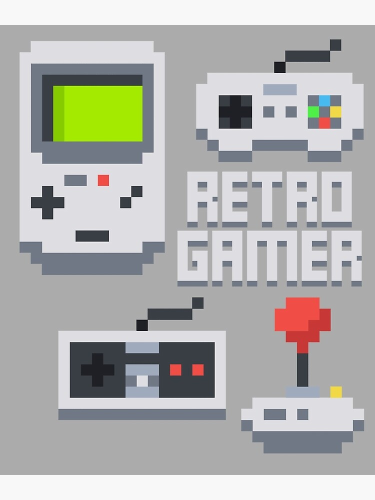 Retro Gamer T Shirt | Poster