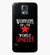 Workers of the World Unite - Red Star & Slogan Case/Skin for Samsung Galaxy