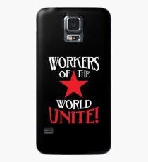 Funda/vinilo para Samsung Galaxy Workers of the World Unite - Estrella roja y lema