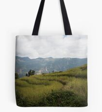 Millet terraces in Gorkha district Tote Bag