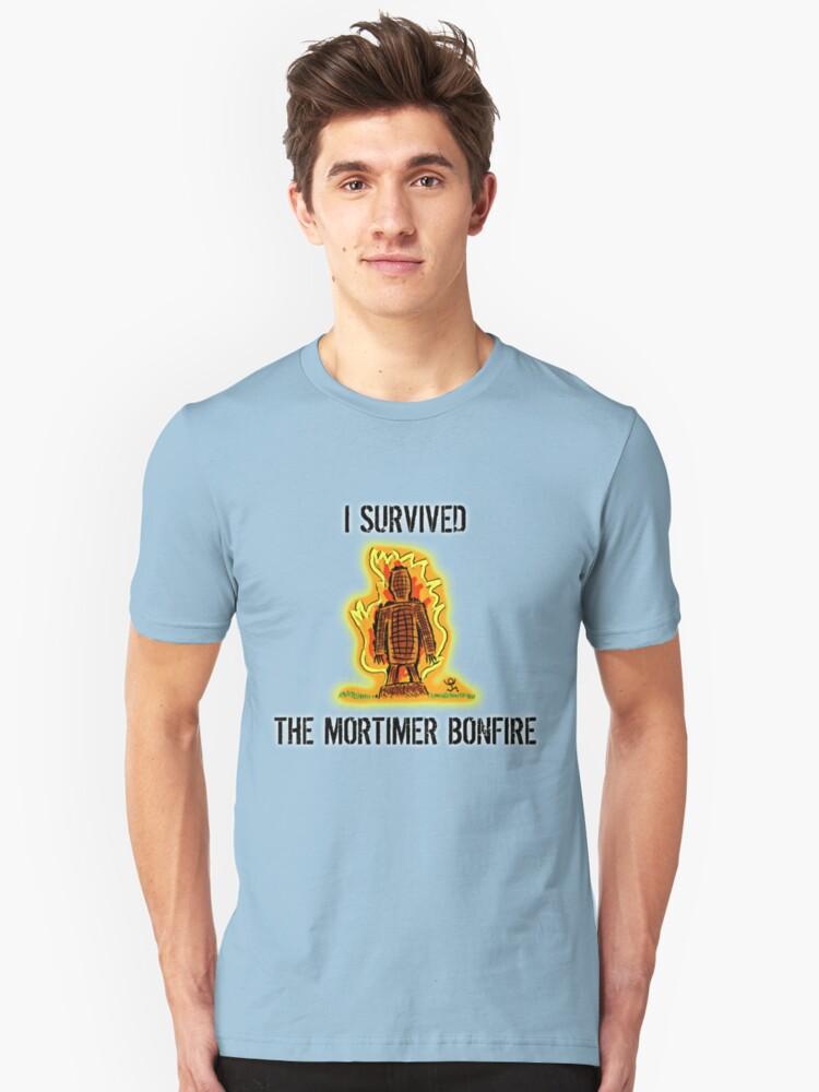 I survived the Mortimer Bonfire Unisex T-Shirt Front