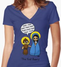 The First Rosary Women's Fitted V-Neck T-Shirt