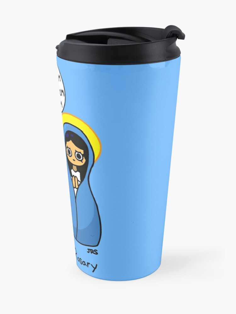 Alternate view of The First Rosary Travel Mug