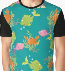 Sea background Graphic T-Shirt