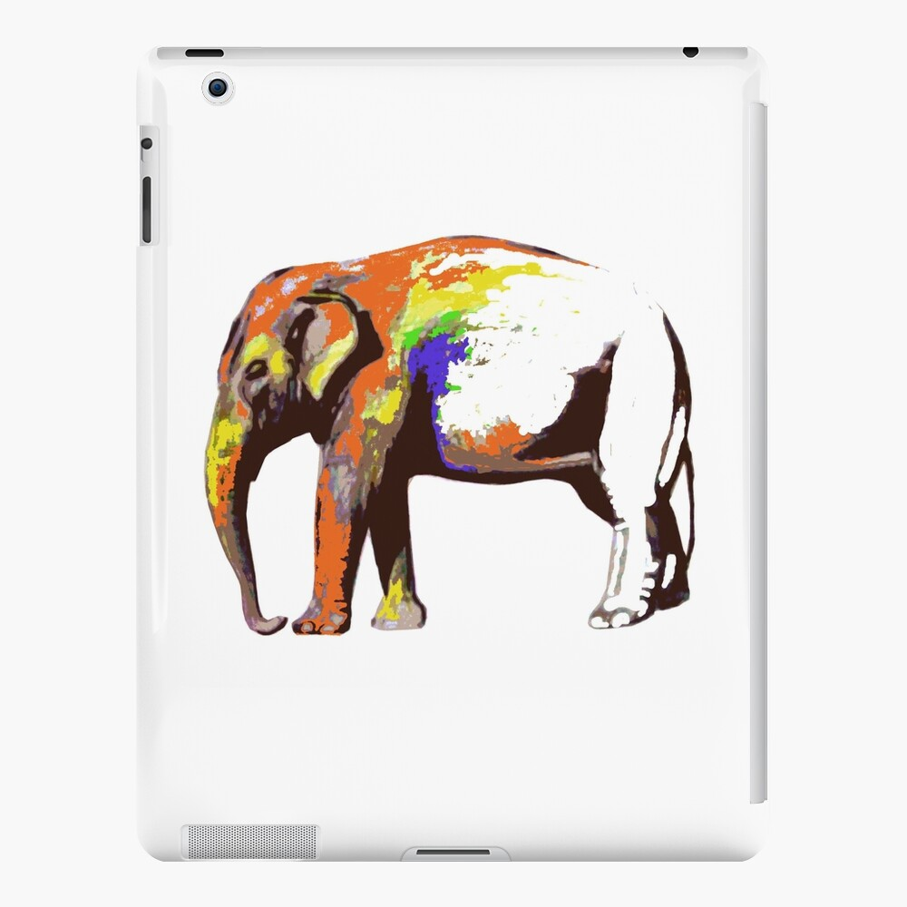 Cool Elephant Animal Colors Abstract Sketch Ipad Case Skin