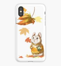 Autumn Hamster iPhone Case/Skin