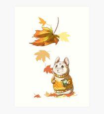 Autumn Hamster Art Print