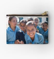 Girls In Tesinge - Far-west Nepal Zipper Pouch