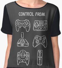 Control Freak Video Game Controller T Shirt Chiffon Top