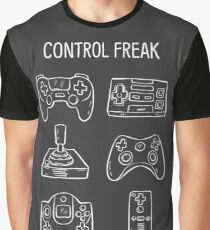 Control Freak Video Game Controller T Shirt Graphic T-Shirt