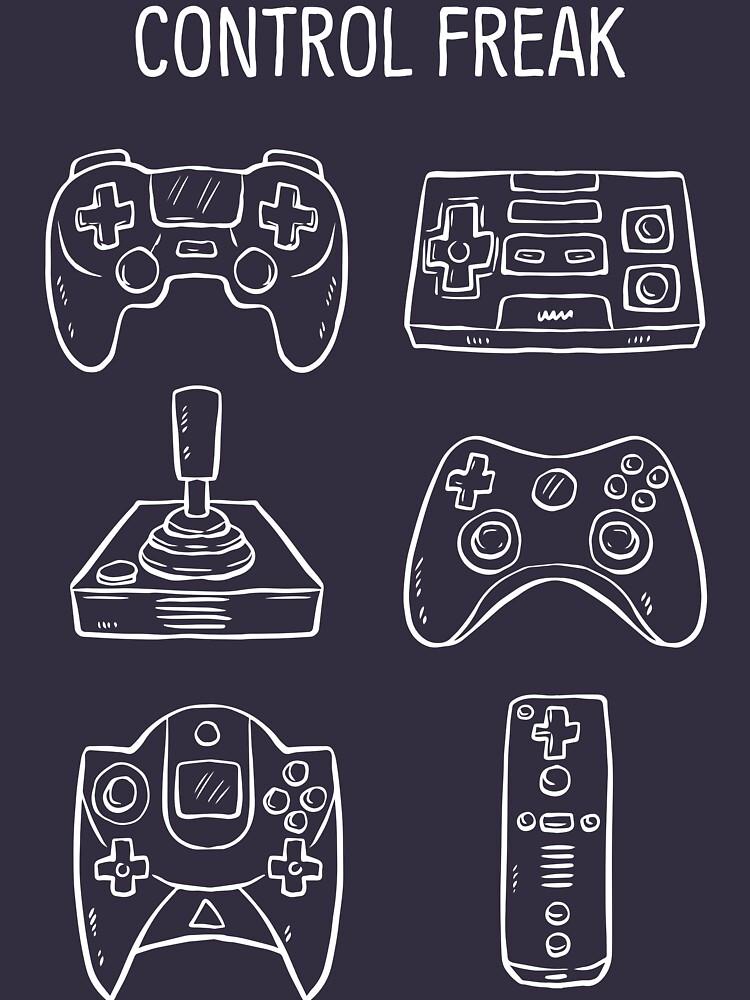 Control Freak Video Game Controller T Shirt de bitsnbobs