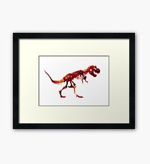 Ceratosaurus Dinosaur Trex Indominus Jurrasic Park Watercolor Painting Framed Print