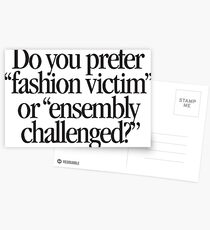 Clueless - Fashion victim Postcards