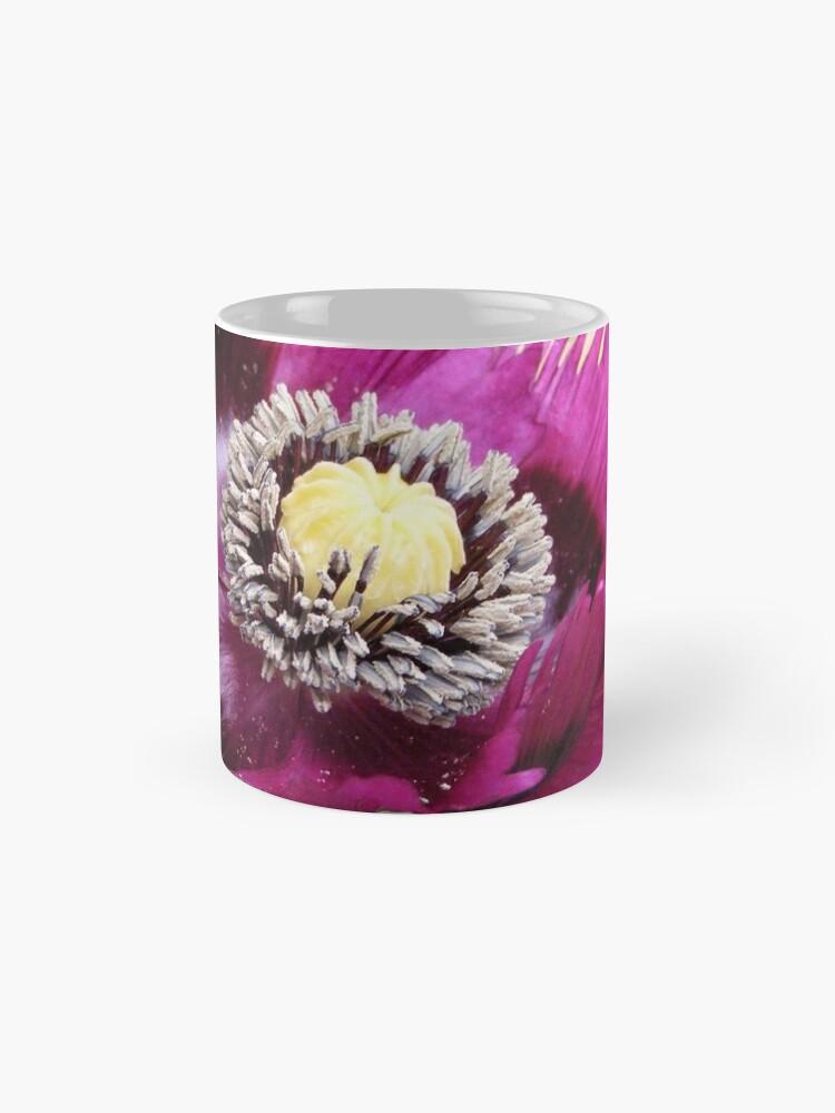Alternate view of PURPLE POPPY FLOWER WITH FRINGED PETALS Mug