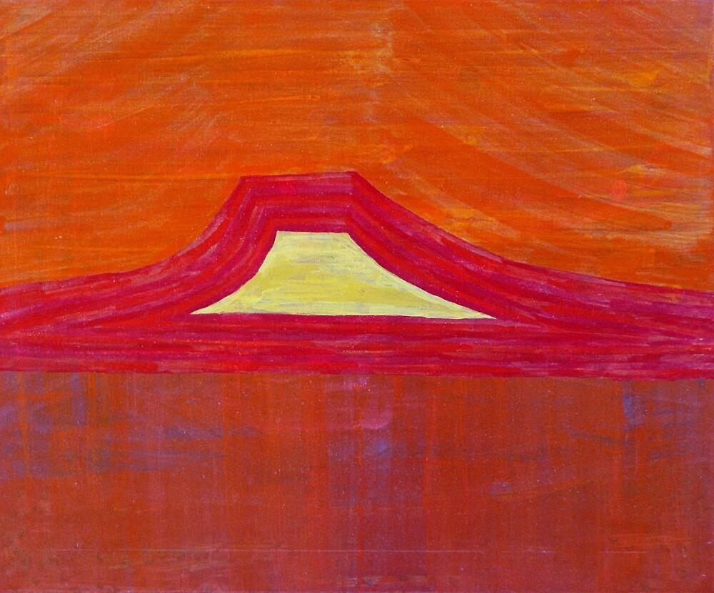 Mount Pedernal original painting by CrowRisingMedia