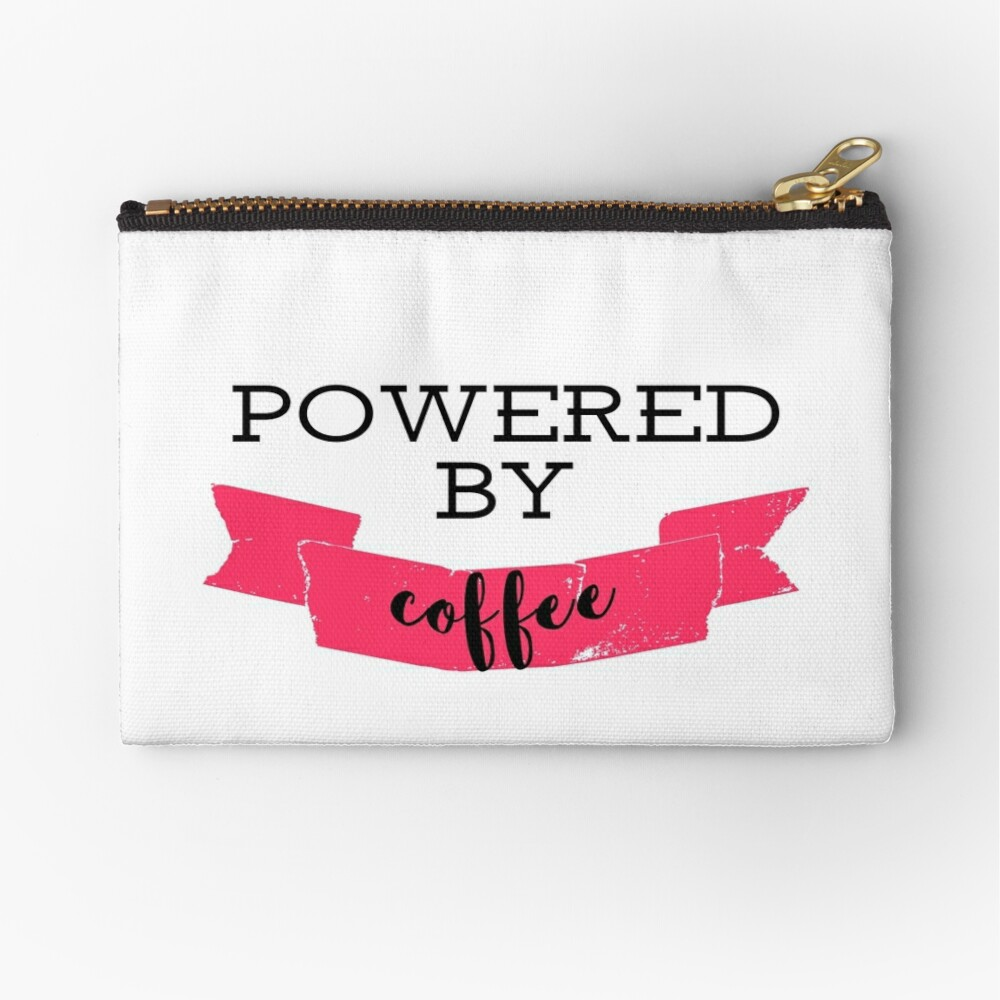 Powered by coffee Zipper Pouch