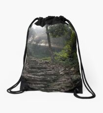 Stairs to the mountain  Drawstring Bag
