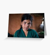 Girl in Thulasain Greeting Card