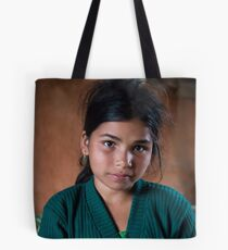 Girl in Thulasain Tote Bag