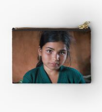 Girl in Thulasain Zipper Pouch