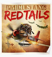 """WINGS Series """"P-51 RED TAILS"""" Poster"""