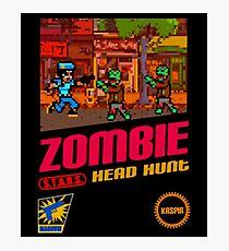 Zombie Head Hunt Photographic Print