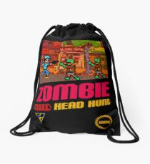 Zombie Head Hunt Drawstring Bag