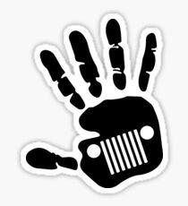 Jeep Wrangler JK Hand Wave Sticker