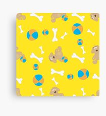 Seamless background with toys Canvas Print