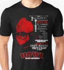 Allen Ginsberg Howl - Beat Poem Author T-shirt Unisex T-Shirt