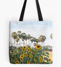 Sunflowers and Palm Tote Bag