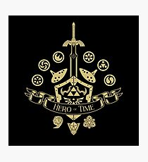 Hero of Time - Coat of Arms Photographic Print