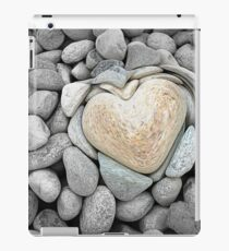 heart love stones in the quarry iPad Case/Skin