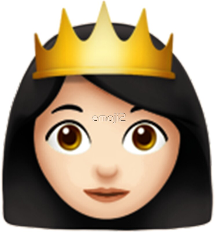 Quot Emoji Queen White Asian Quot Stickers By Emoji2 Redbubble
