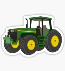 Green Farming Tractor Sticker