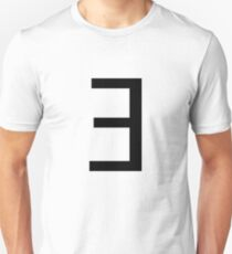 Backwards E (there exists.) Unisex T-Shirt
