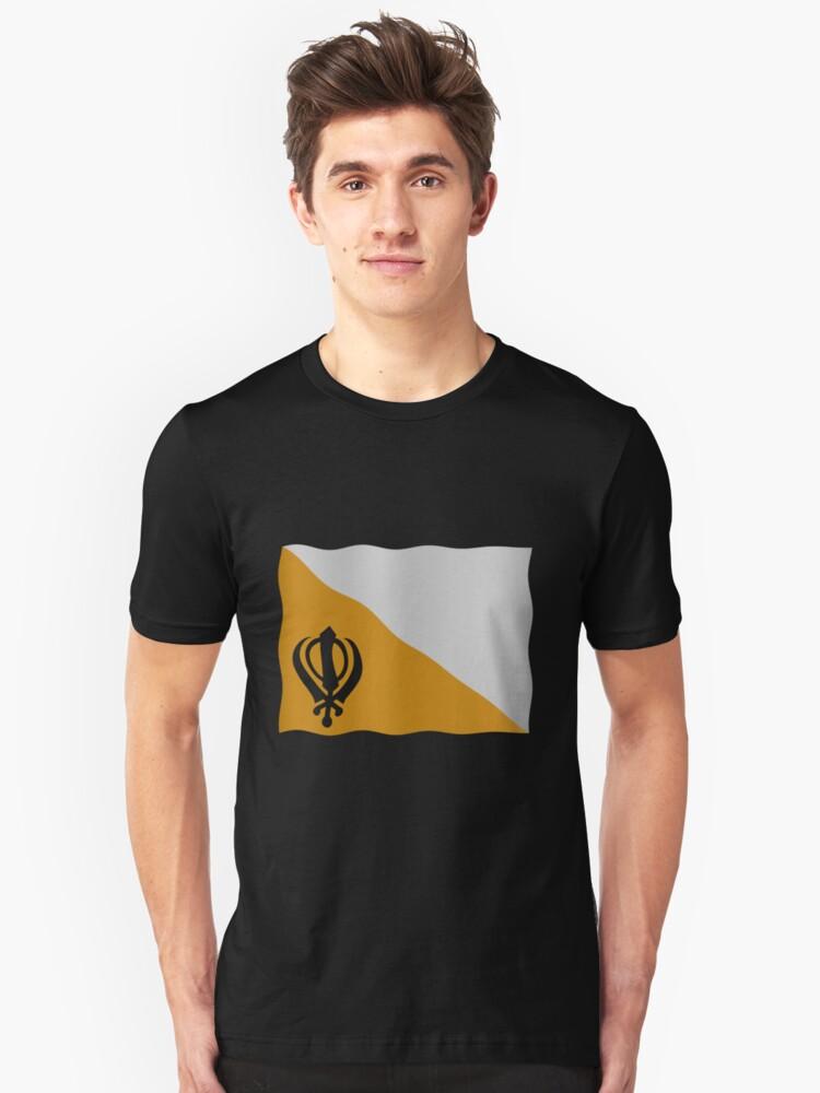 Flag Punjab Unisex T-Shirt Front