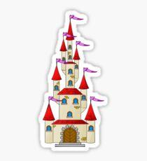 Tall Fairytale Castle Sticker