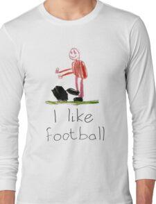 I like football Long Sleeve T-Shirt