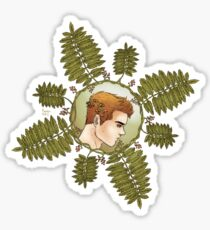 Sterek mountain ash human print Sticker