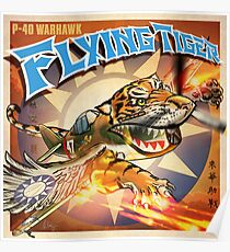 "WINGS Series ""FLYING TIGER"" Poster"
