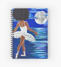 """""""Walking on Water"""" Limited Edition Art Print - black art - black girl magic - Afro centric - African American Art  Spiral Notebook"""