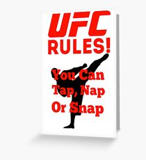 UFC Rules Greeting Card