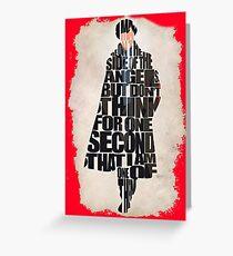 Sherlock Holmes Greeting Card