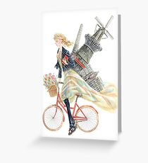Fashionista in Amsterdam Greeting Card