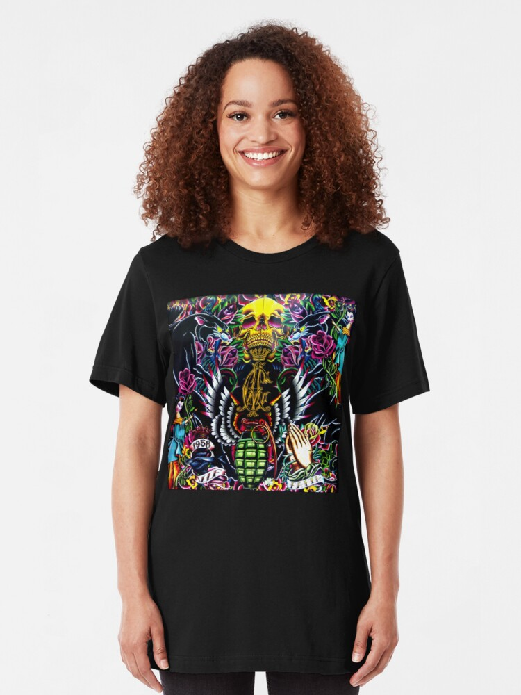 Alternate view of Ed Hardy Shop in Melbourne Slim Fit T-Shirt
