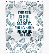 Psalm 95 verse 5 Poster