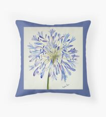 Isles of Scilly 'Agapanthus' Throw Pillow